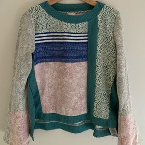 ✨Anthropologie Tapestry Bell Sleeve Sweater✨